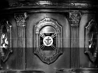 Detail of silver Masonic punch bowl (1924)