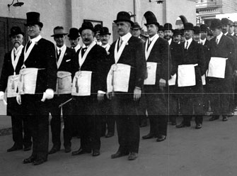 Procession of California Grand Lodge officers (c. early 20th century)