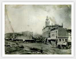 San Francisco Masonic Temple in background (c. 1860-1880)
